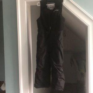 Weatherproof boys 4T snow bibs, black, fleece top